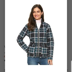 NWT Croft and Barrow quilted fall jacket